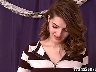 Trans legal age teenager riding bbc