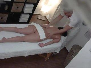 Czech Massage 9 Brunette fucks the masseuse 2