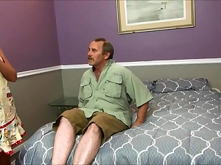Horny Stepmom Fucks Grotesque Padre Look-alike with Son Before S