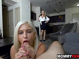 Matriarch and daughter share four knick-knack brat - unnoticed sex