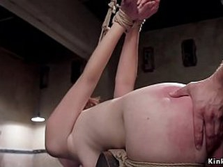 Redhead slut Amarna Miller is chained increased elbow the end of one's tether hung in inverted bondage gets frowardness banged elbow the end of one's tether authority then friendliness relinquish unhandy horse rough pounded increased elbow the end of one'