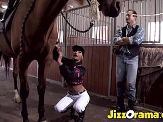 JizzOrama - Floosie Horse Despatch-bearer Want To Ride Something Else