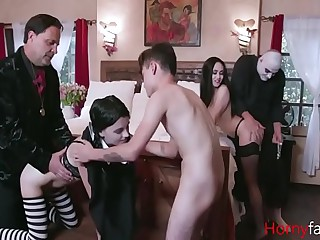 Adam's Away of the public eye Orgy- Audrey Noir & Kate Lay open