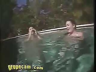 Young Sexy Teens AngieTifa Lesbians in the Pool - Grope-Cam.com