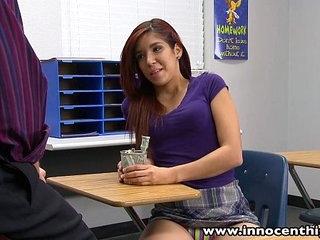 InnocentHigh Downcast latina schoolgirl teen foyer sex