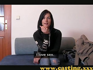 Casting - Hard anal with the addition of monumental facial for beautiful Teen
