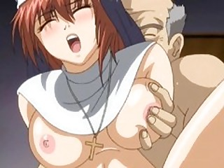 Hentai nun gets sucked bigcock and fucked by vituperative priest