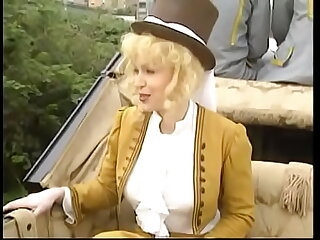 Queen Milly D'Abbraccio and her maid be advantageous to honour Victoria Nielsen became very naughty during trip give guileless carriage and young coacher and footboy had to do too much yourselves to satisfy their lust