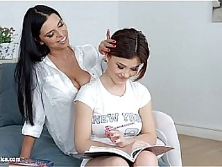 Lesson dreams by Sapphic Erotica - sensual lesbian scene with Kyra Queen Veronic