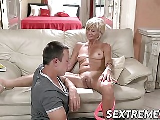 Blonde granny needs a young immutable cock