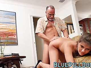 Curvy young slut trained by grey piss off